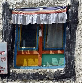 The windows of Lo Manthang